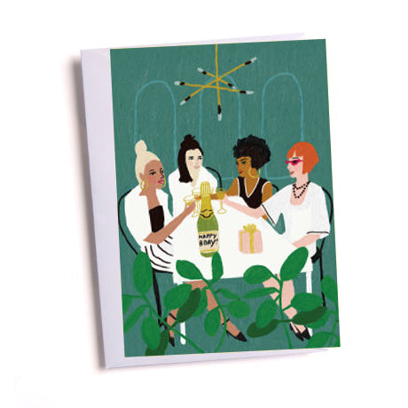 Girls Night Out Birthday Greetings Card