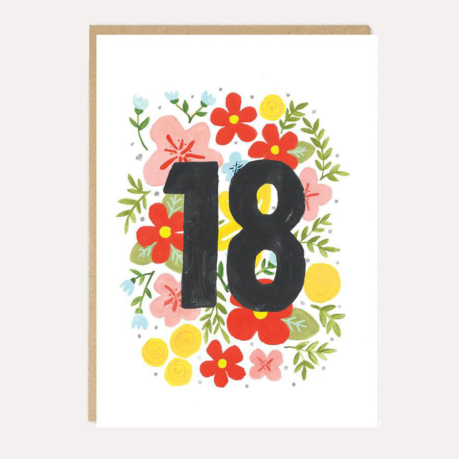 ** Eighteen Birthday Card