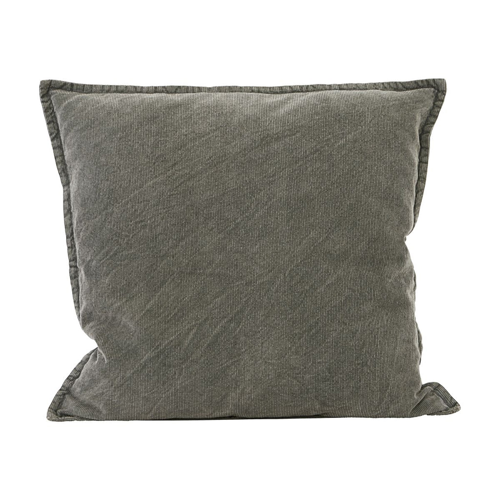 Cotton Cord Cushion Cover - Olive Grey