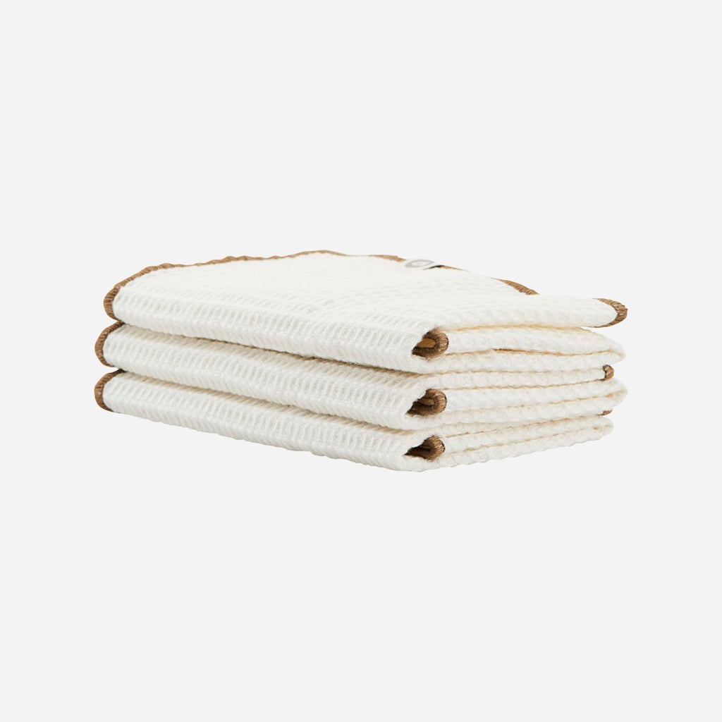 Set of Three Cleaning Cloths - Nougat