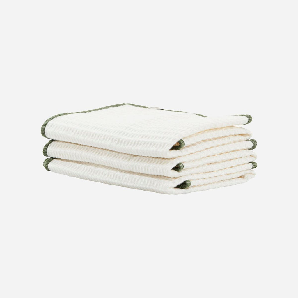 Set of Three Cleaning Cloths - Green