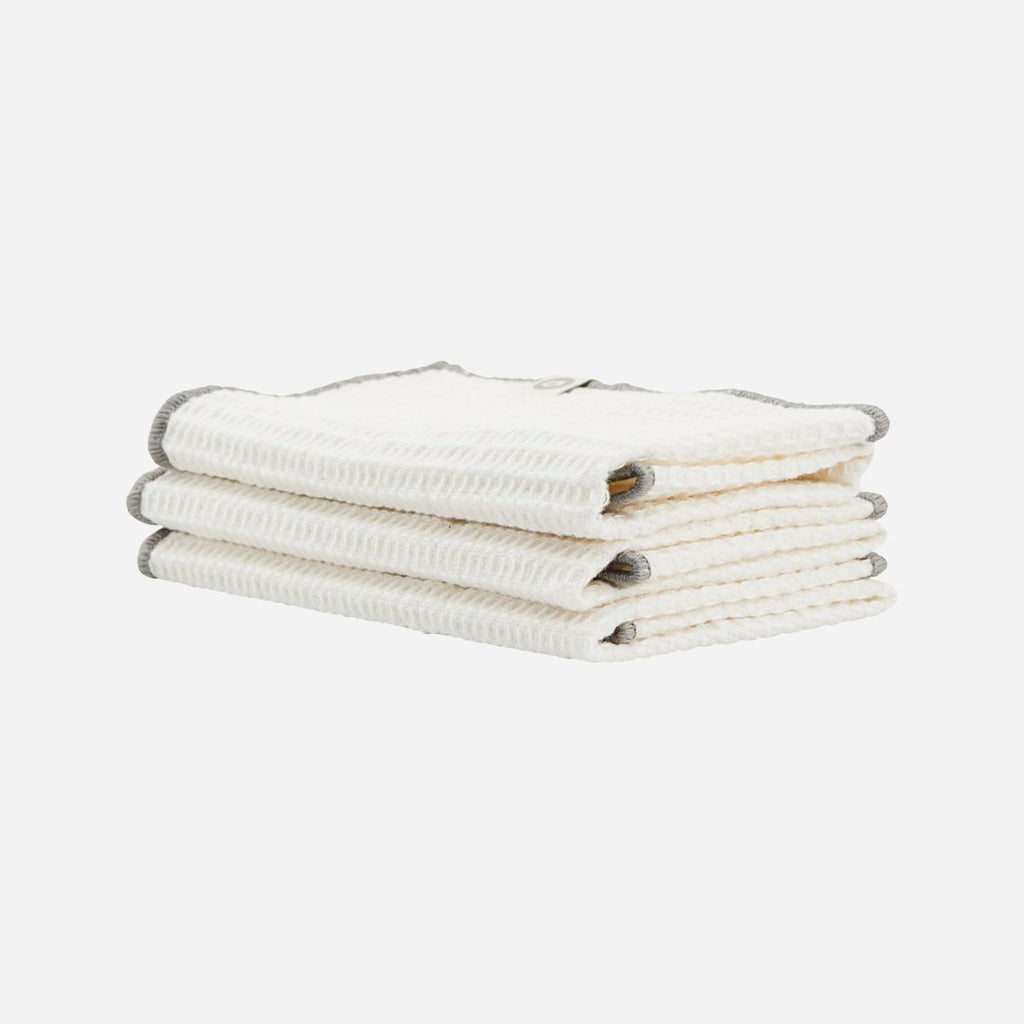 Set of Three Cleaning Cloths - Grey