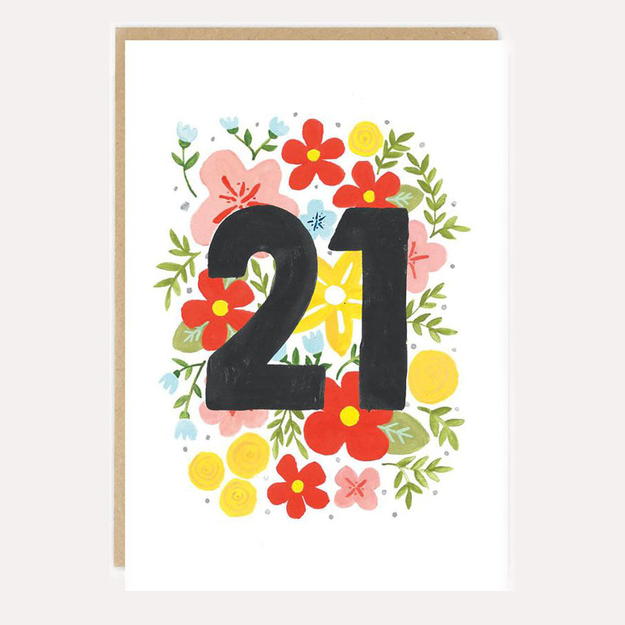 Twenty One Birthday Card
