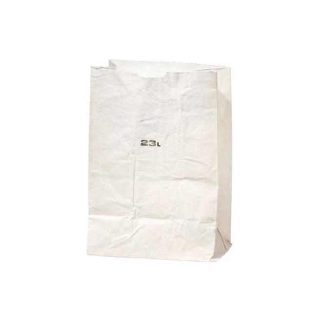 Waxed Cotton Grocery Bag - 23L White