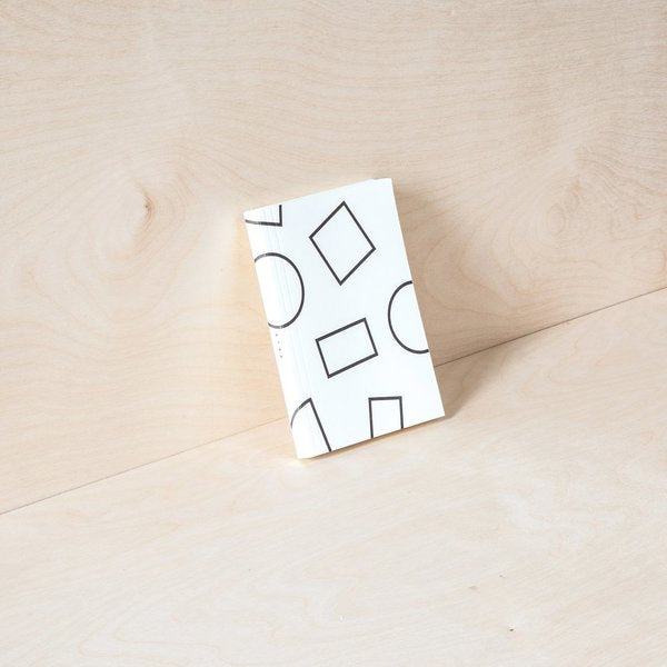 A6 Pocket Layflat Weekly Planner in Black and White Shapes