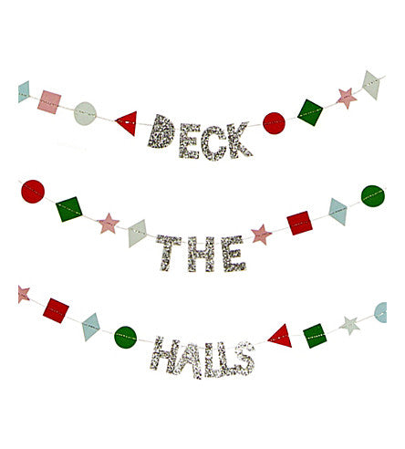 Deck The Halls Banner Christmas Card