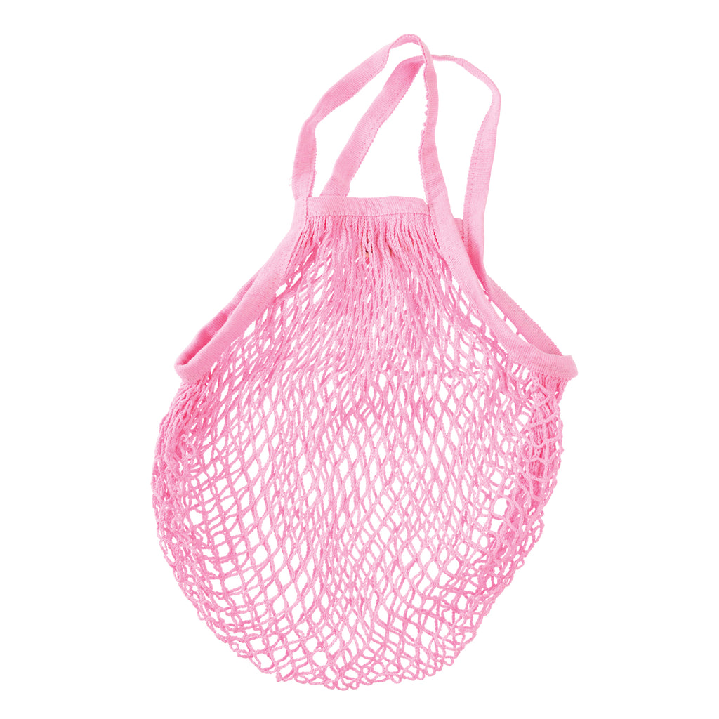 ** Organic Cotton Net Market Bag - Baby Pink