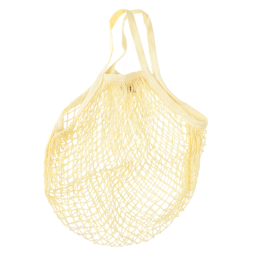 ** Organic Cotton Net Market Bag - Lemony Cream