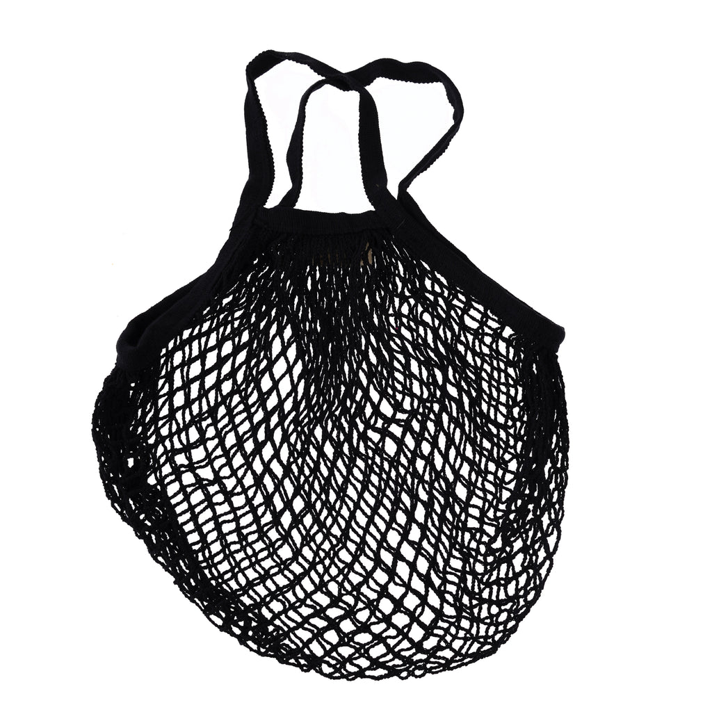 ** Organic Cotton Net Market Bag - Black