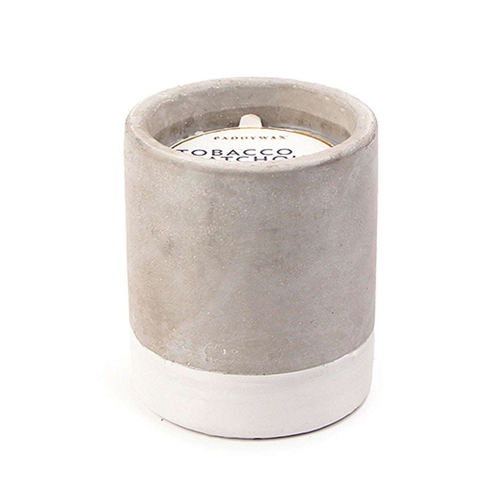 3.5oz Tobacco & Patchouli Soywax Candle in Concrete