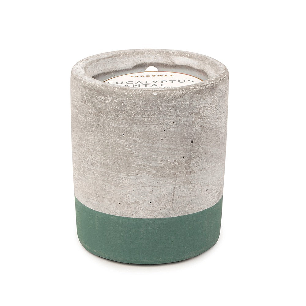 3.5oz Eucalyptus & Santal Soywax Candle in Concrete