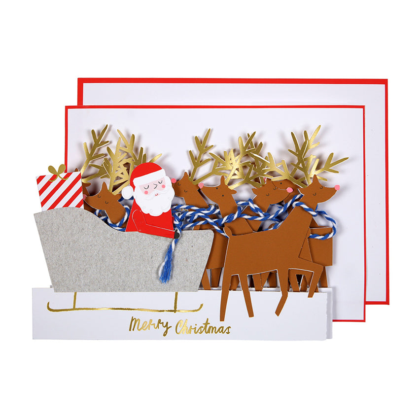 Sleigh Concertina Christmas Card