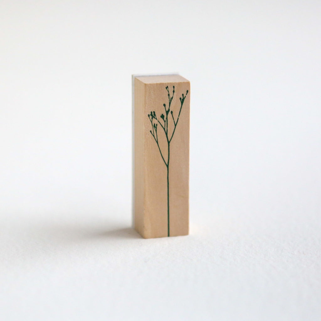 Delicate Botanical Stem Rubber Stamp - Design 1