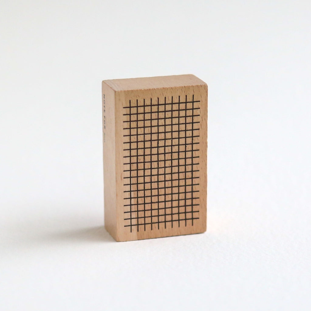 Simple Journal Wooden Rubber Stamp - Grid Lattice