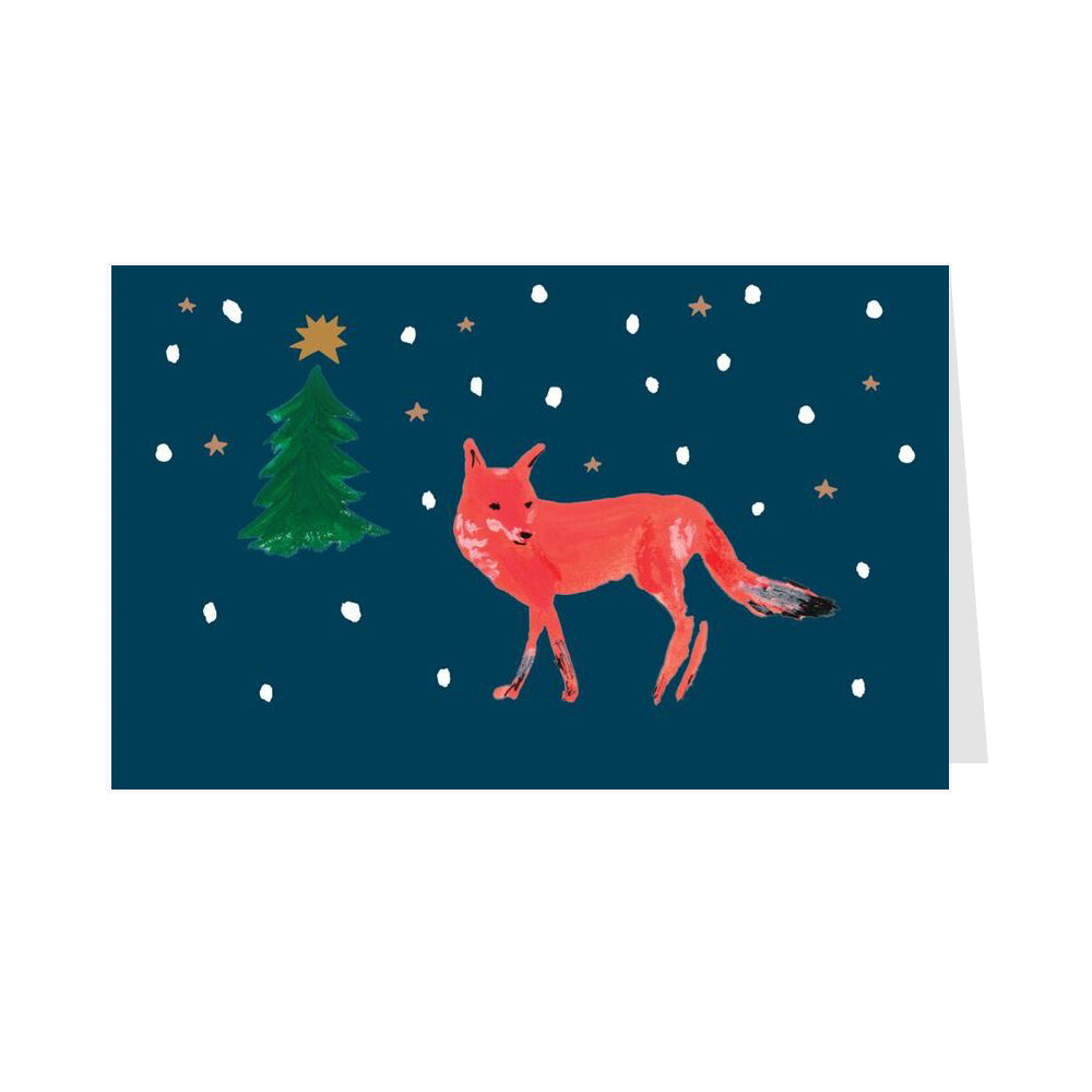 Fox in The Snow - Pack of 8 Christmas Cards