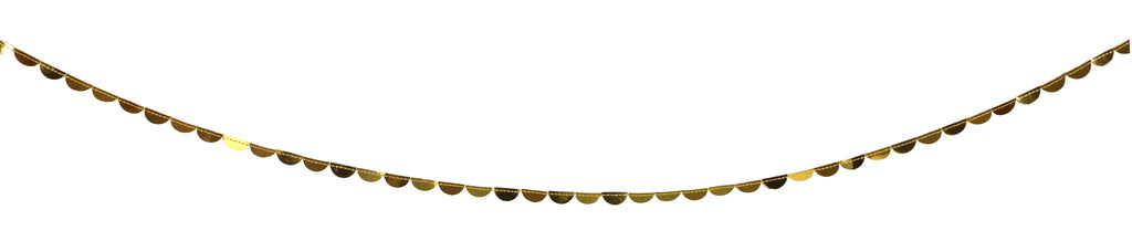 Gold Half Circle Garland on a Spool