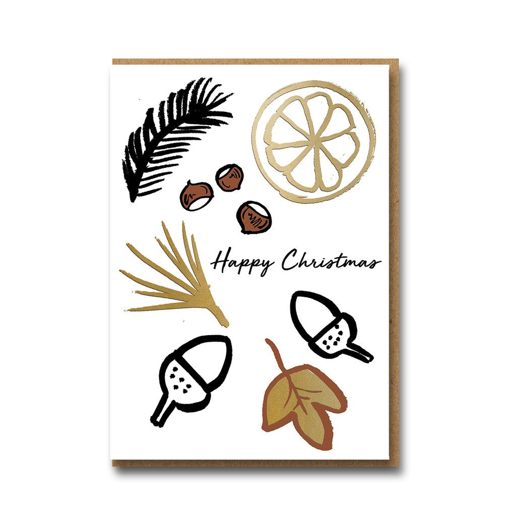 Frozen Forest : Acorns Christmas Card