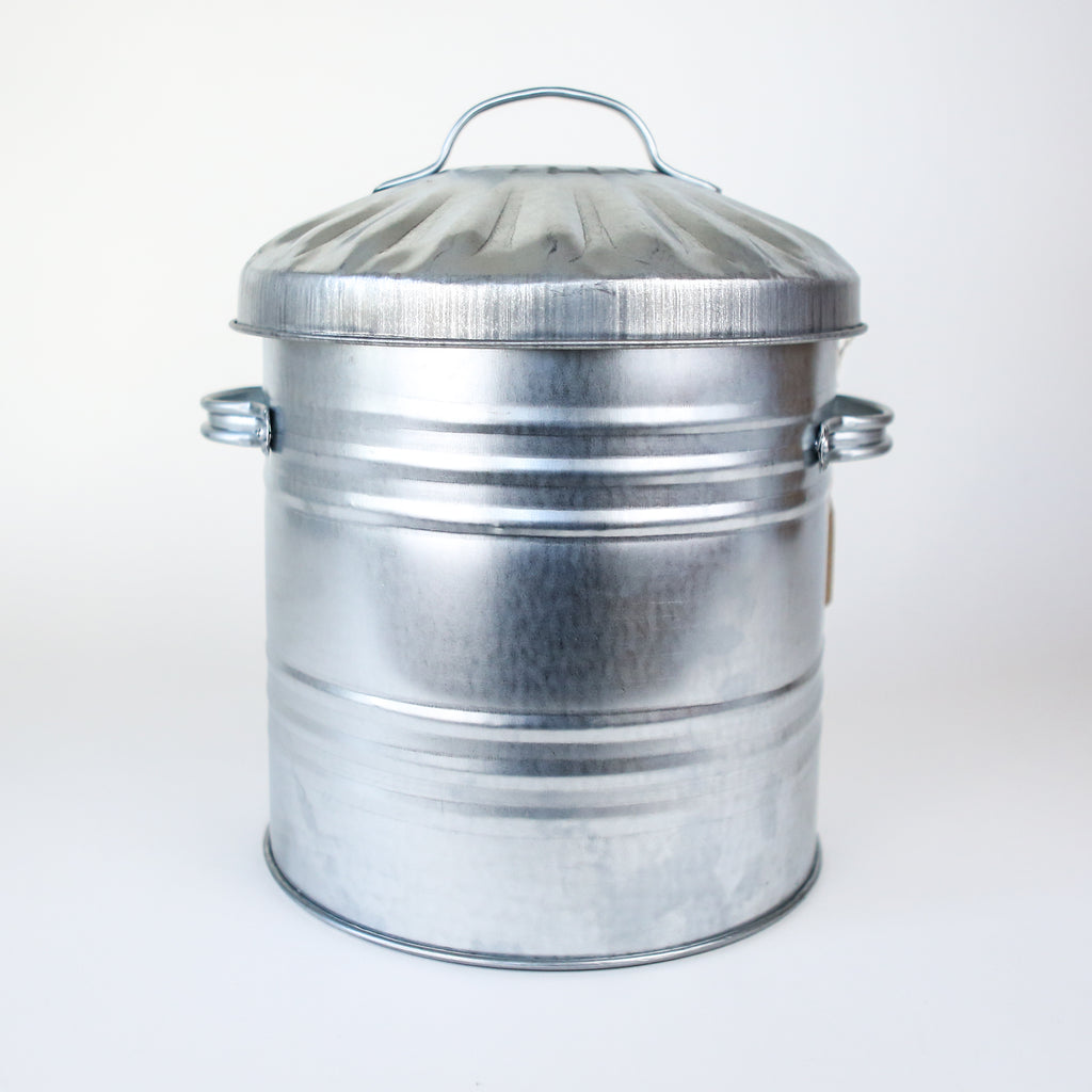 Small Galvanised Dustbin
