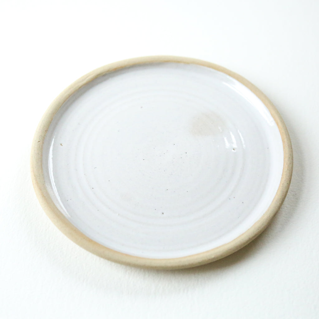 Hand Thrown Side Plate - White