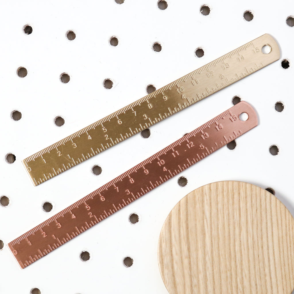 Brass or Copper Finish Ruler
