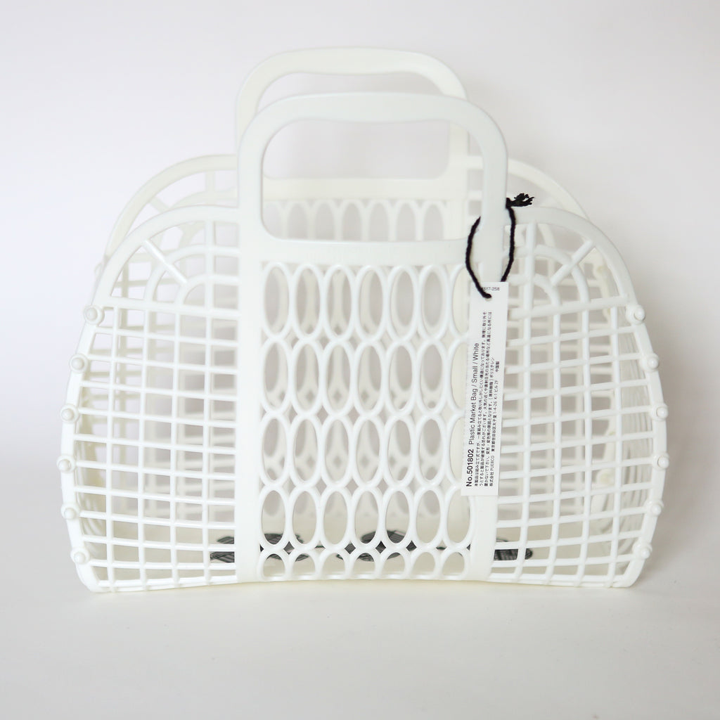 Plastic Market Bag - Small White