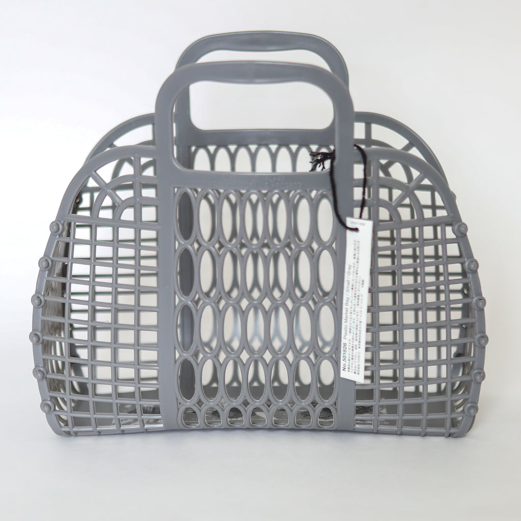 Plastic Market Bag - Small Grey