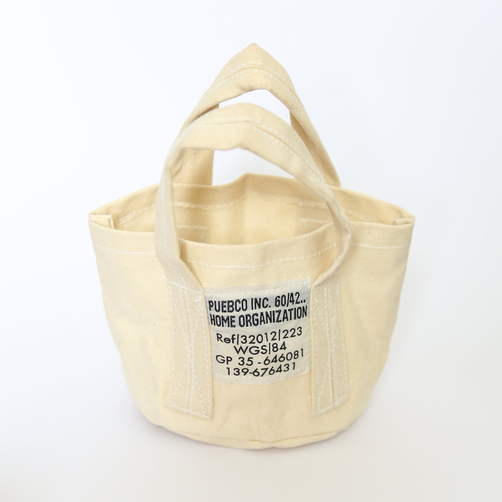 Small Canvas Tote - Natural