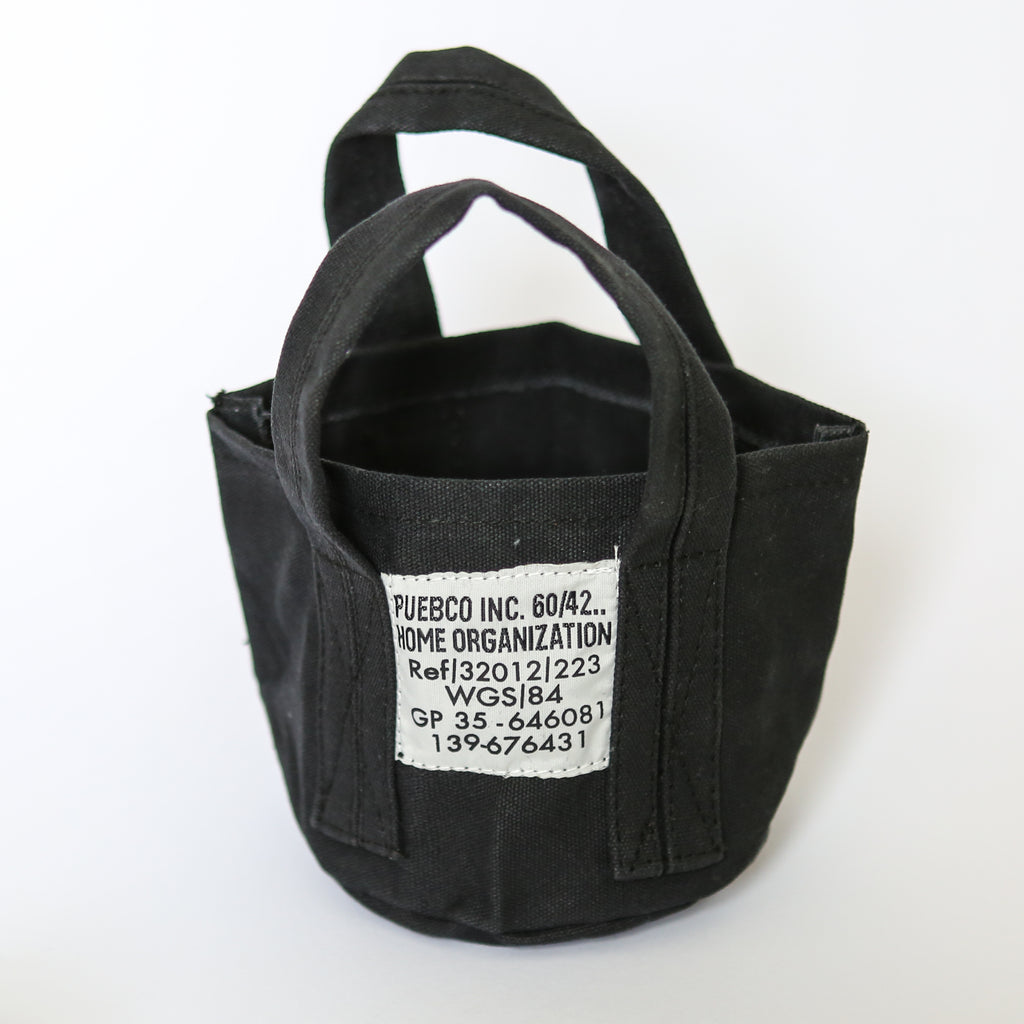 Small Canvas Tote - Black
