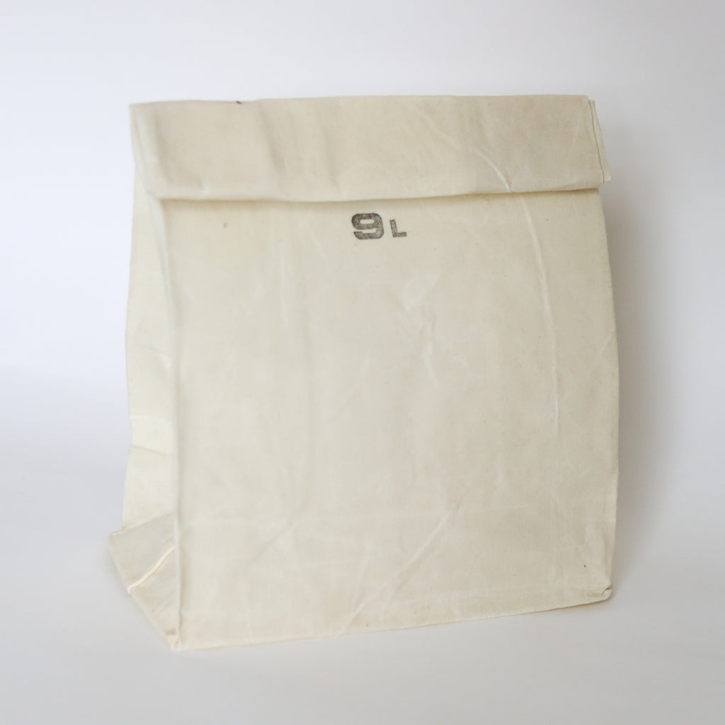 Waxed Cotton Grocery Bag - 9L White