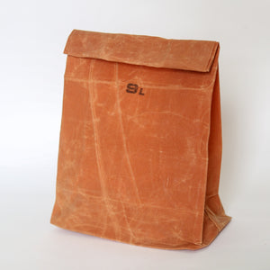 Waxed Cotton Grocery Bag - 9L Brown