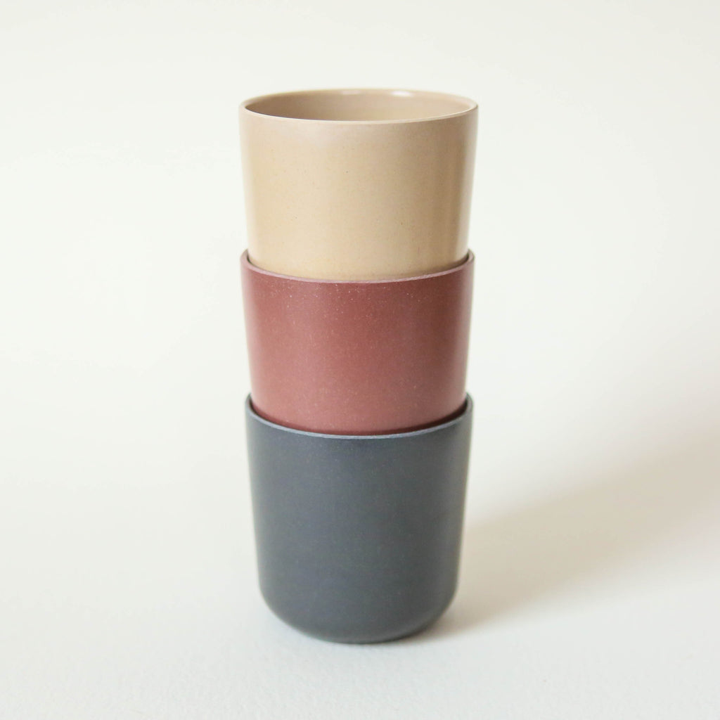 Bamboo Cups - Pack of three in Fog, Beet and Ocean