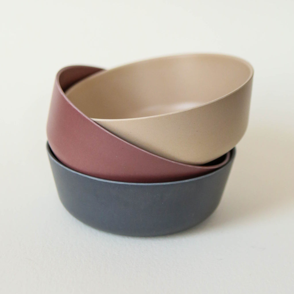 Bamboo Bowls - Pack of three in Fog, Beet and Ocean