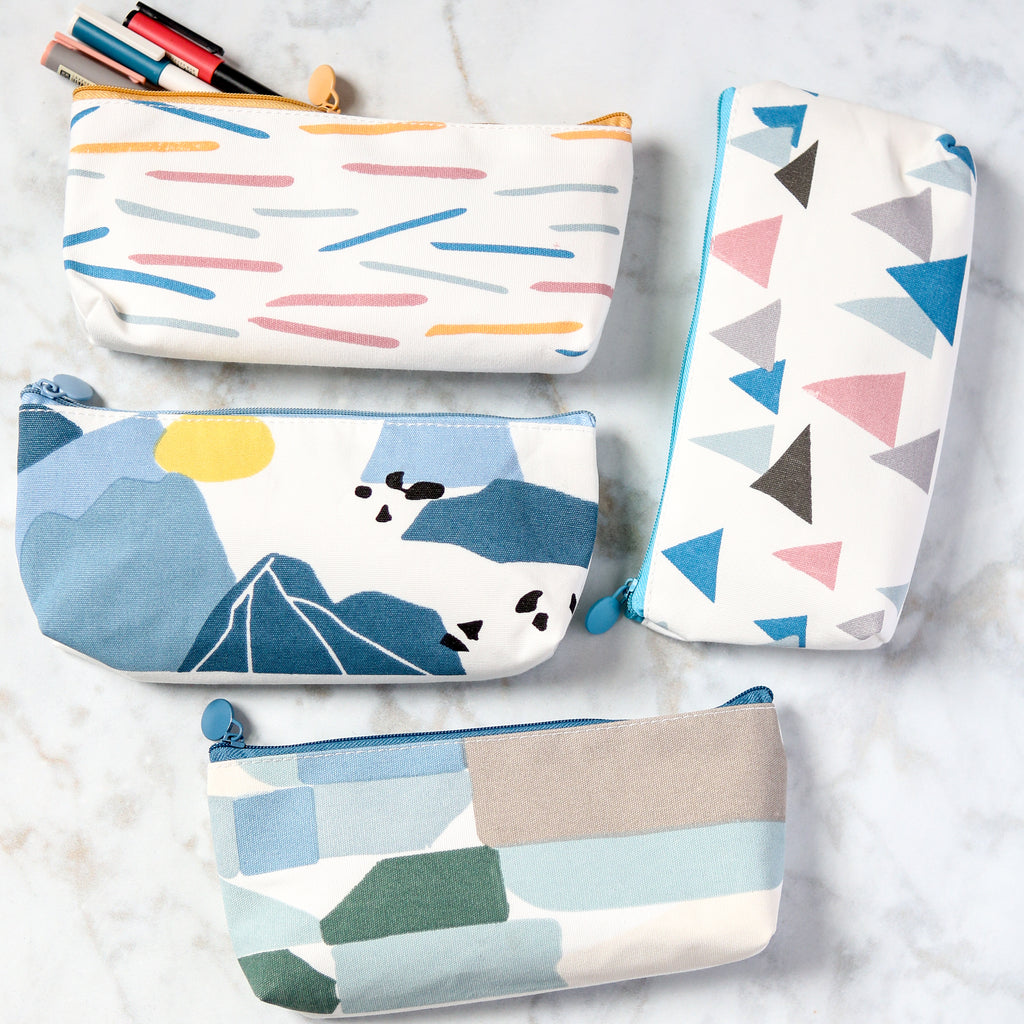 Abstract Pattern Fabric Pencil Cases
