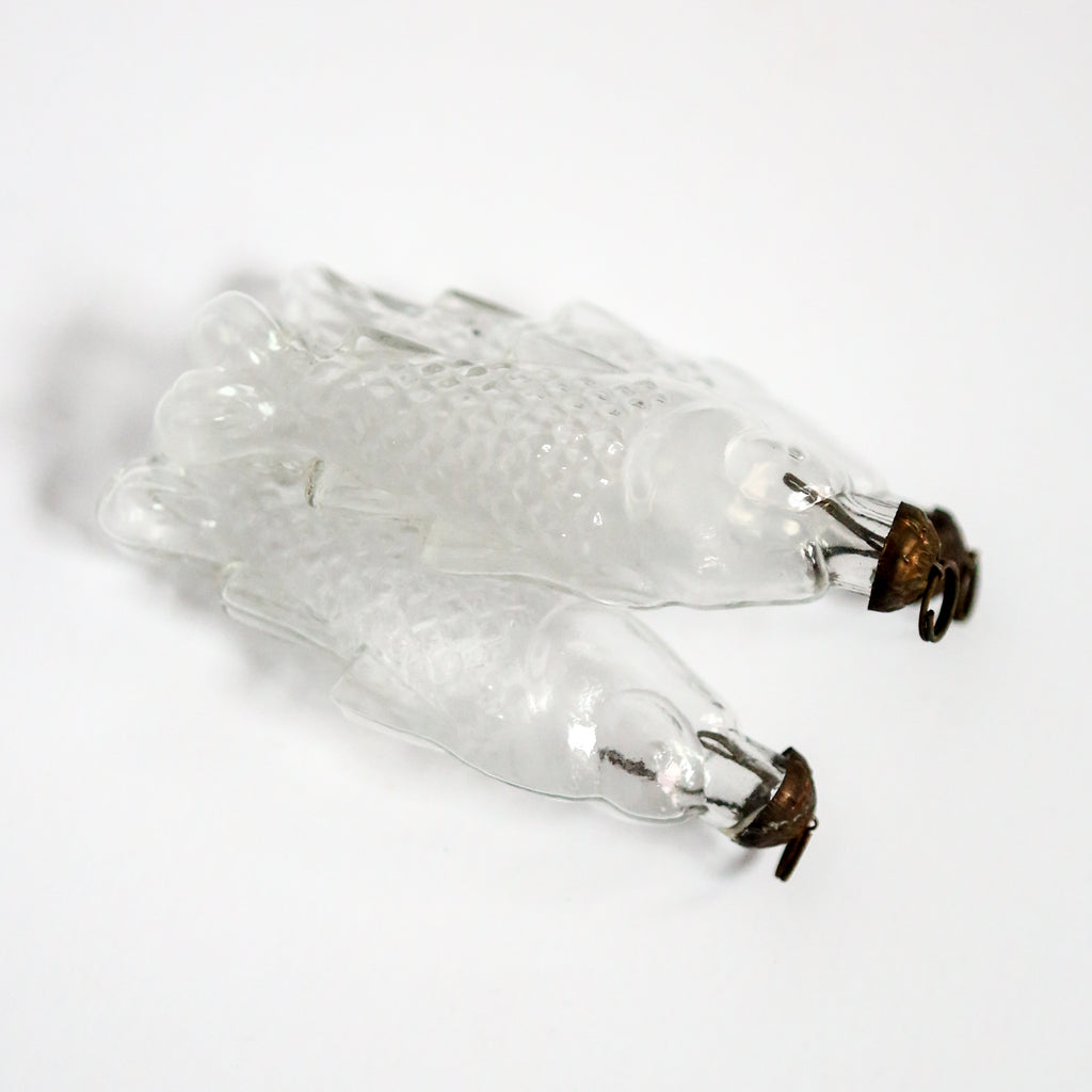 Clear Glass Fish Decoration Trio