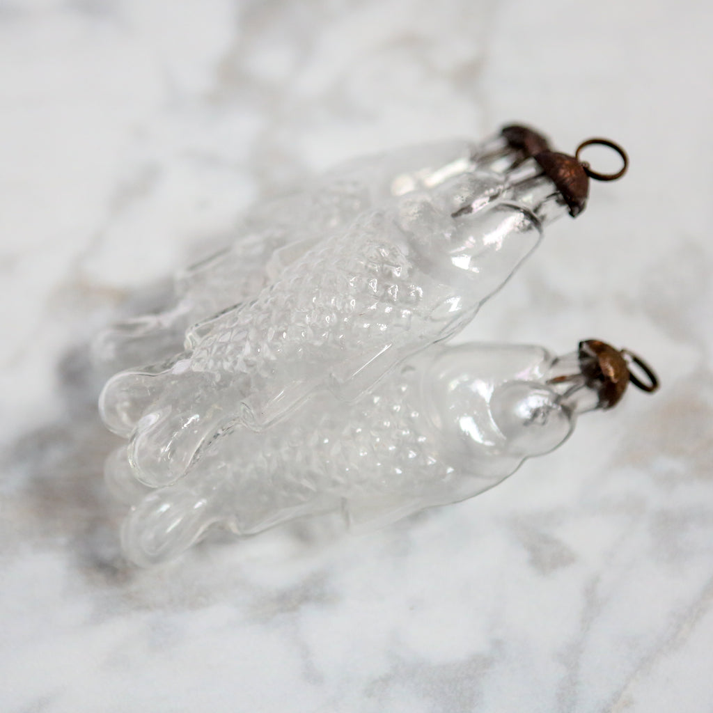 Clear Glass Fish Decoration