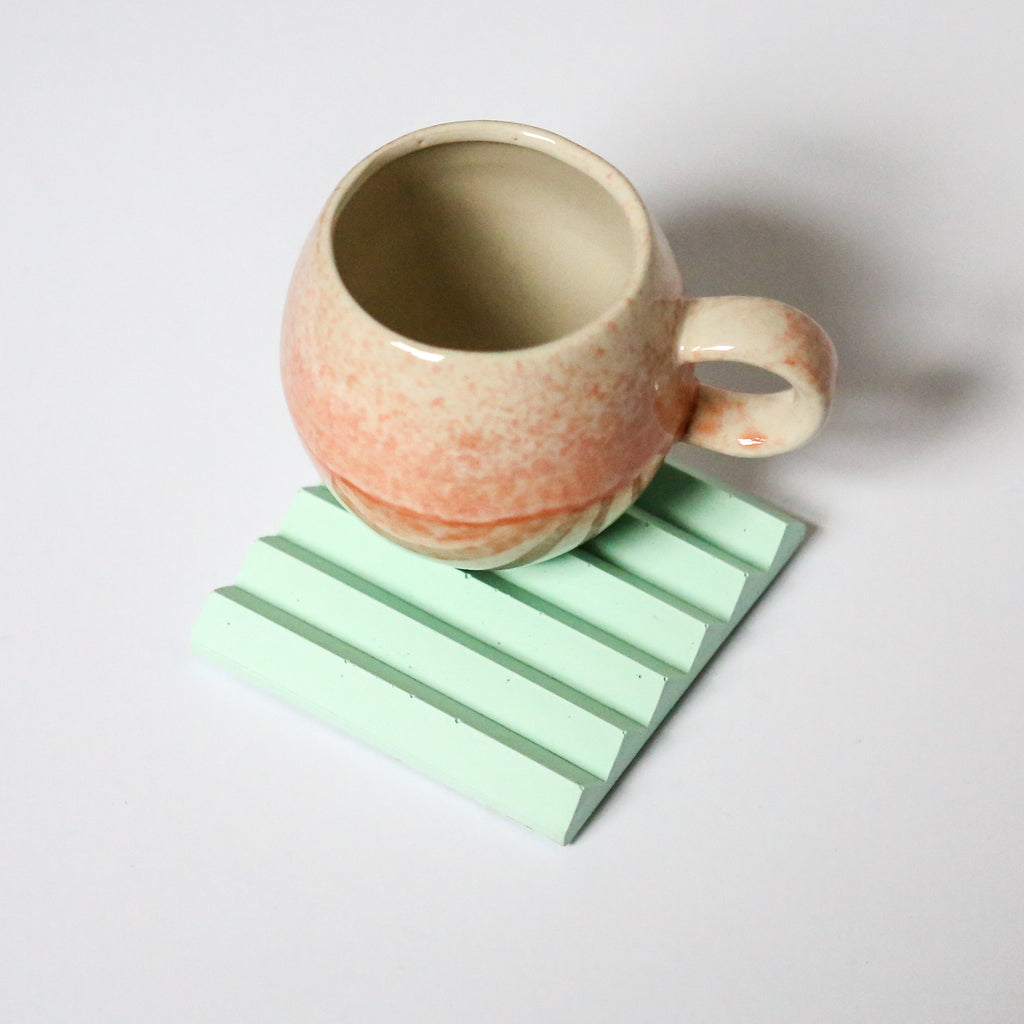 Zig Zag Coaster or Pen Holder in Mint Green