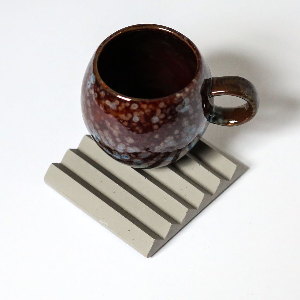 Zig Zag Coaster or Pen Holder in Grey