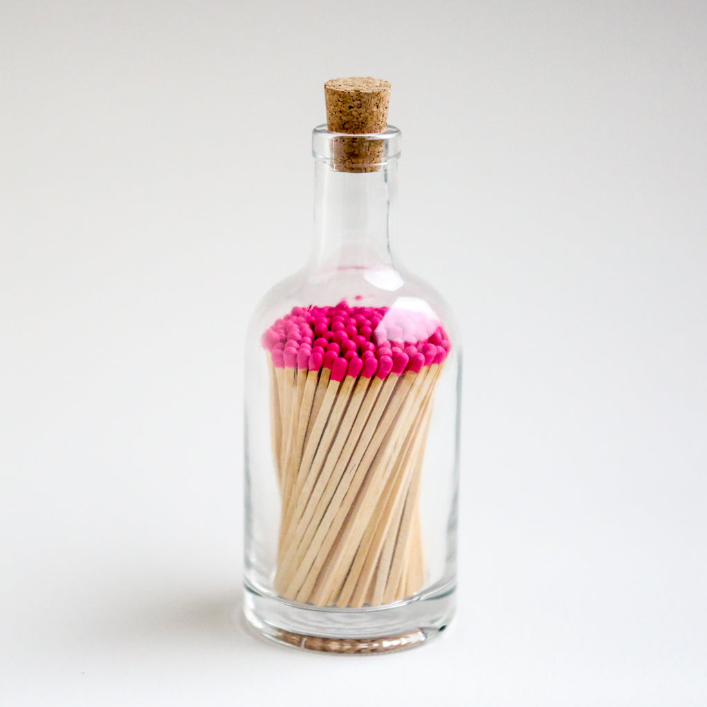 Bottle of Neon Pink Tipped Luxury Matches