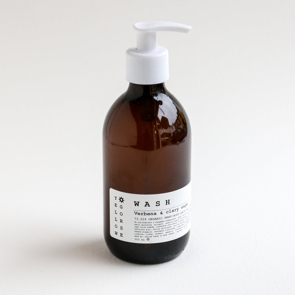 Organic Wash for Hands, Hair and Body - Lemon Verbena & Clary Sage