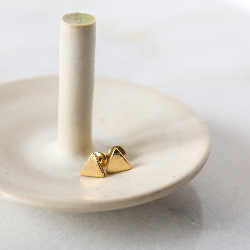 Simple Triangle Stud Earrings