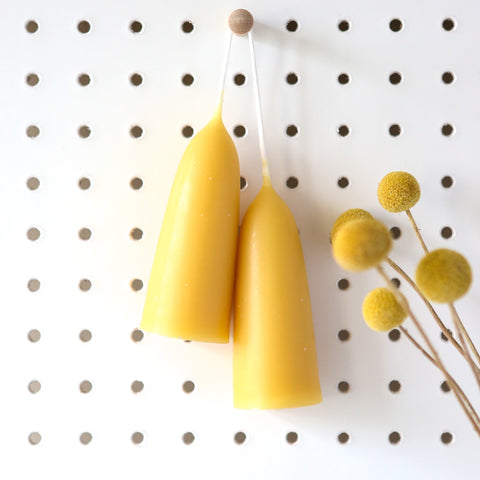 Stumpie Beeswax Candle Pair
