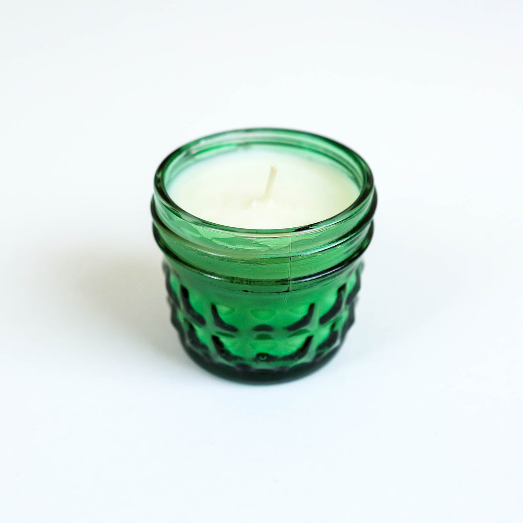 Pack of 6 Short Dinner Candles - Mint