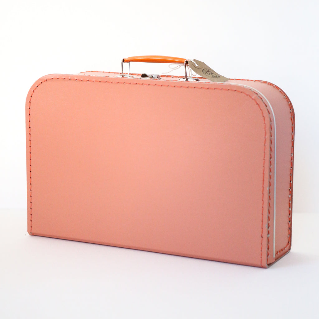 Large Coral Suitcase