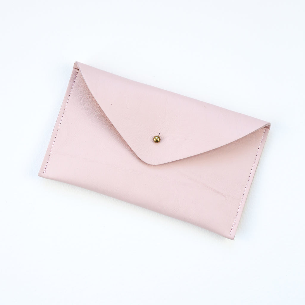 Simple Leather Purse - Blush