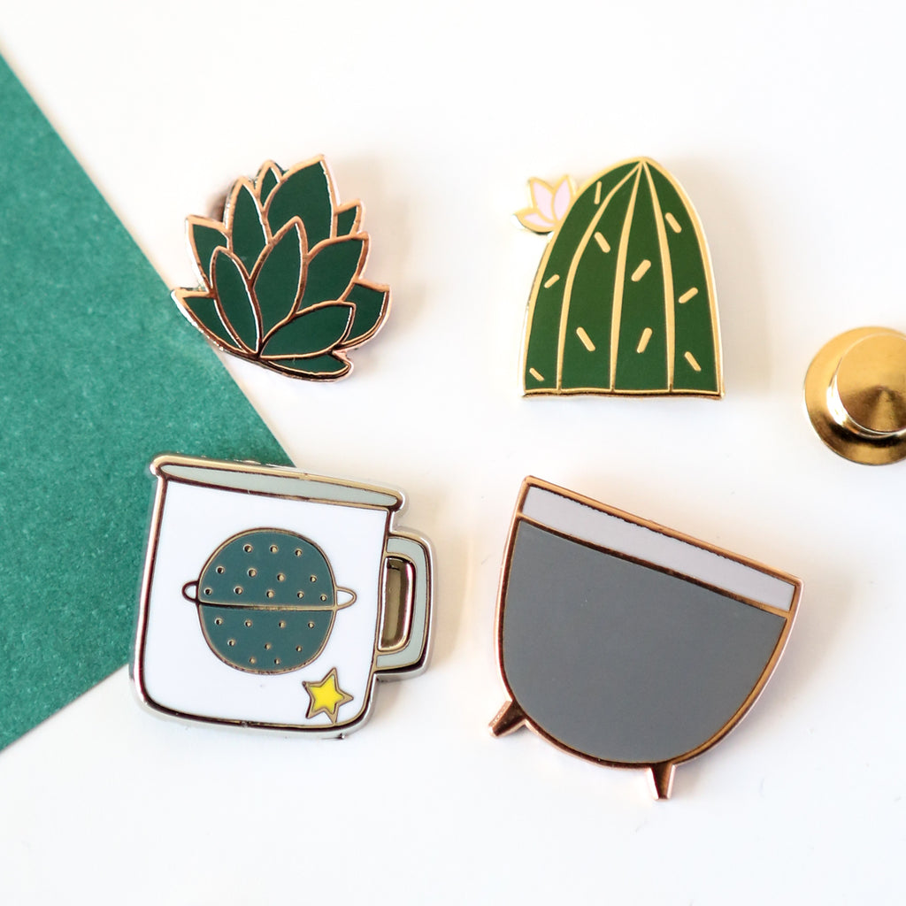 Mix and Match Pot and Plant Enamel Pins