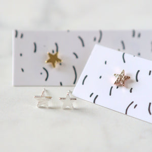 Simple Star Stud Earrings