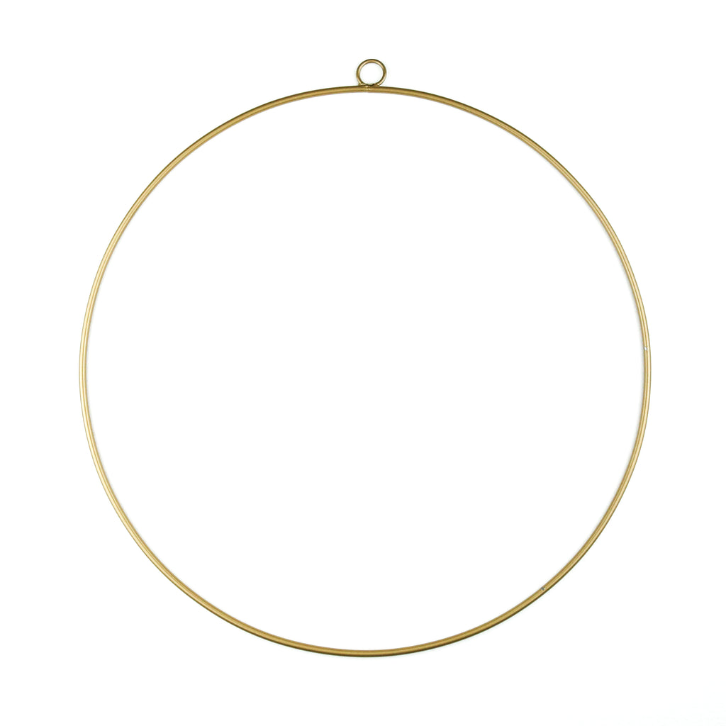 Gold Wreath Hoop - Small