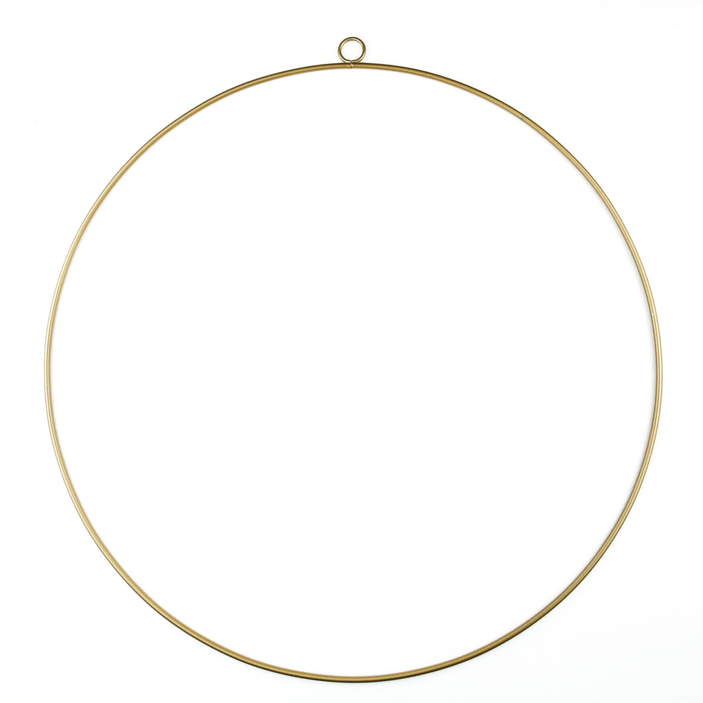 Gold Wreath Hoop - Medium