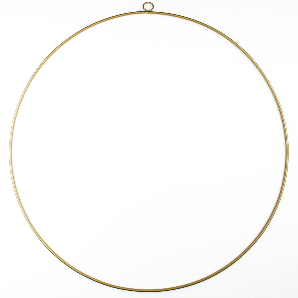 Gold Wreath Hoop - Large
