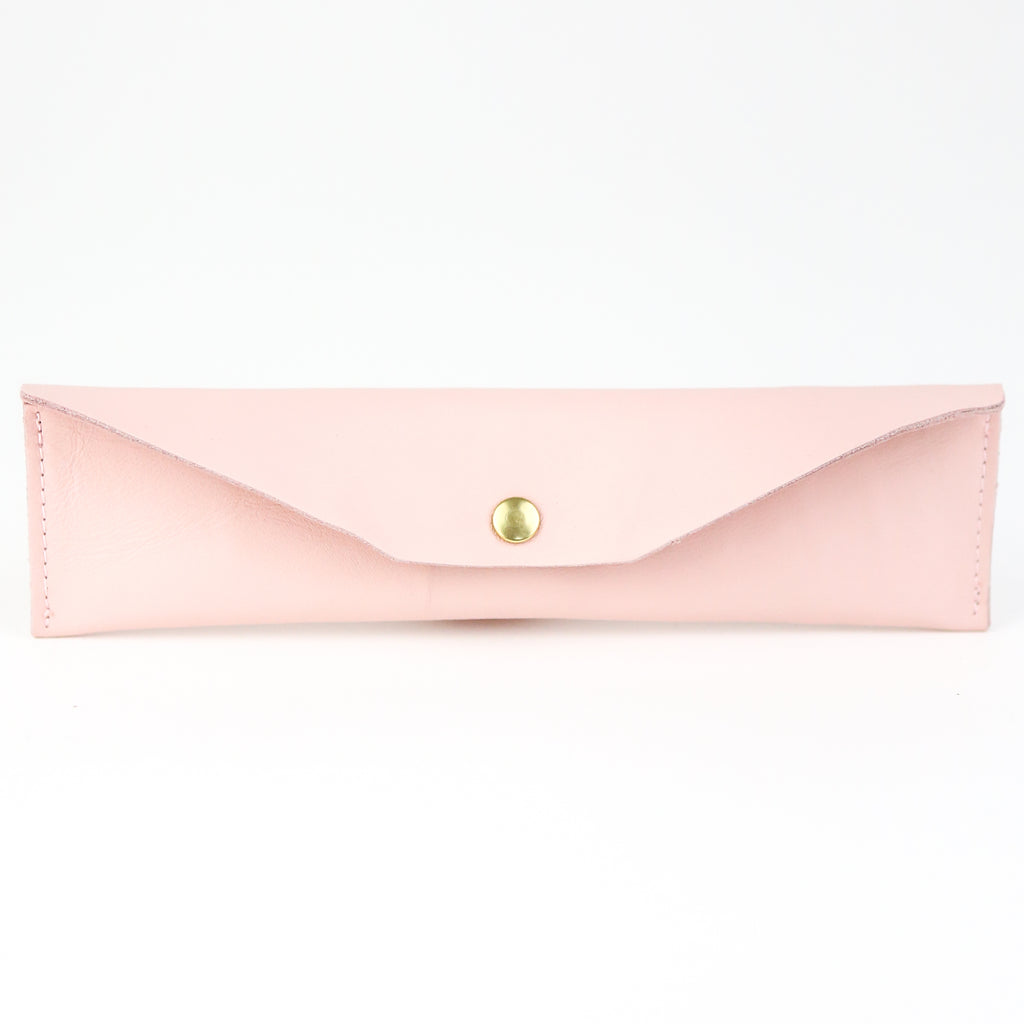 Leather Mini Pencil Case - Blush